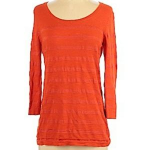 Banana Republic Scoop Neck 3/4 Sleeve Corral Top